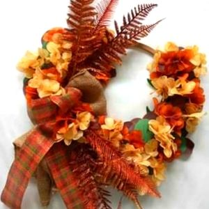 Fall Fern Wreath Farmhouse Wreath Autumm Decor